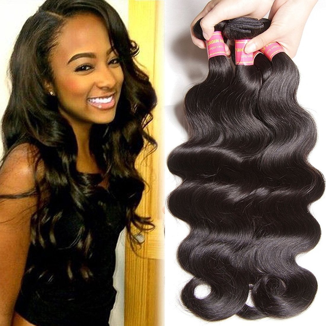 Amazon Beauty Forever Hair Brazilian Natural Wave Virgin Hair