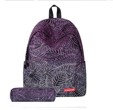 Moda única impresión digital casual mochilas escolares de la escuela secundaria poliester Tennager viajes al aire