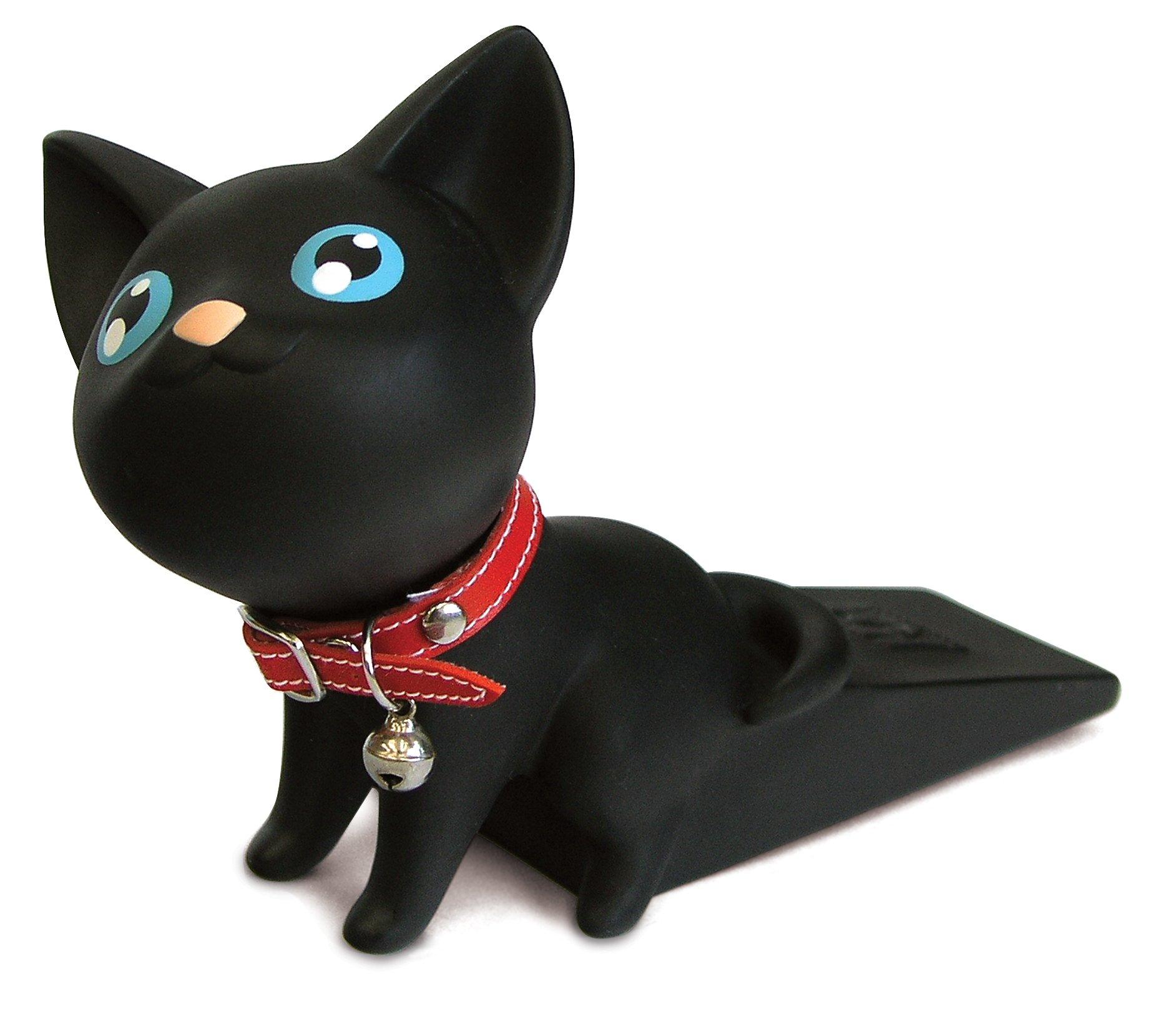 Witty Novelty Black Kitty Doorstop