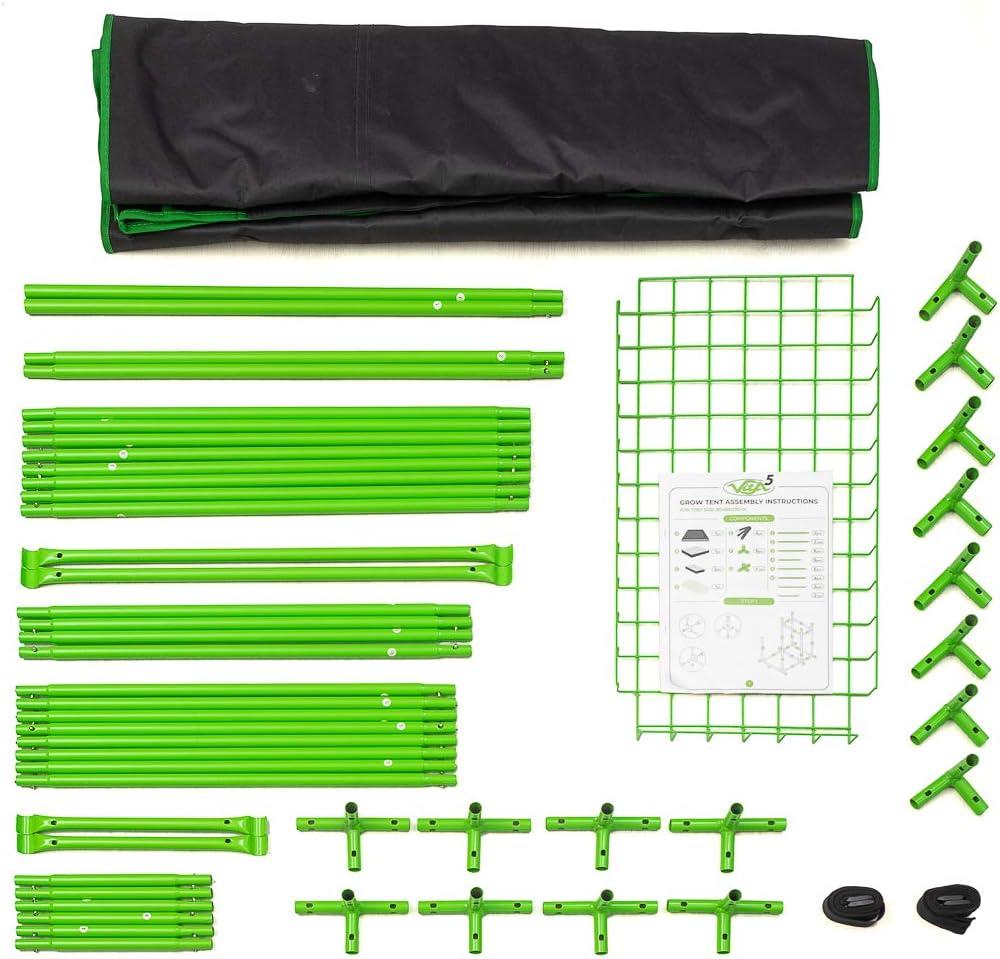 Impermeable Grow Tent 90x60x135 Lona Resistente a Prueba de luz y de rasgaduras VITA5 Armaro Cultivo 2-in-1 Armarios Cultivo Interior