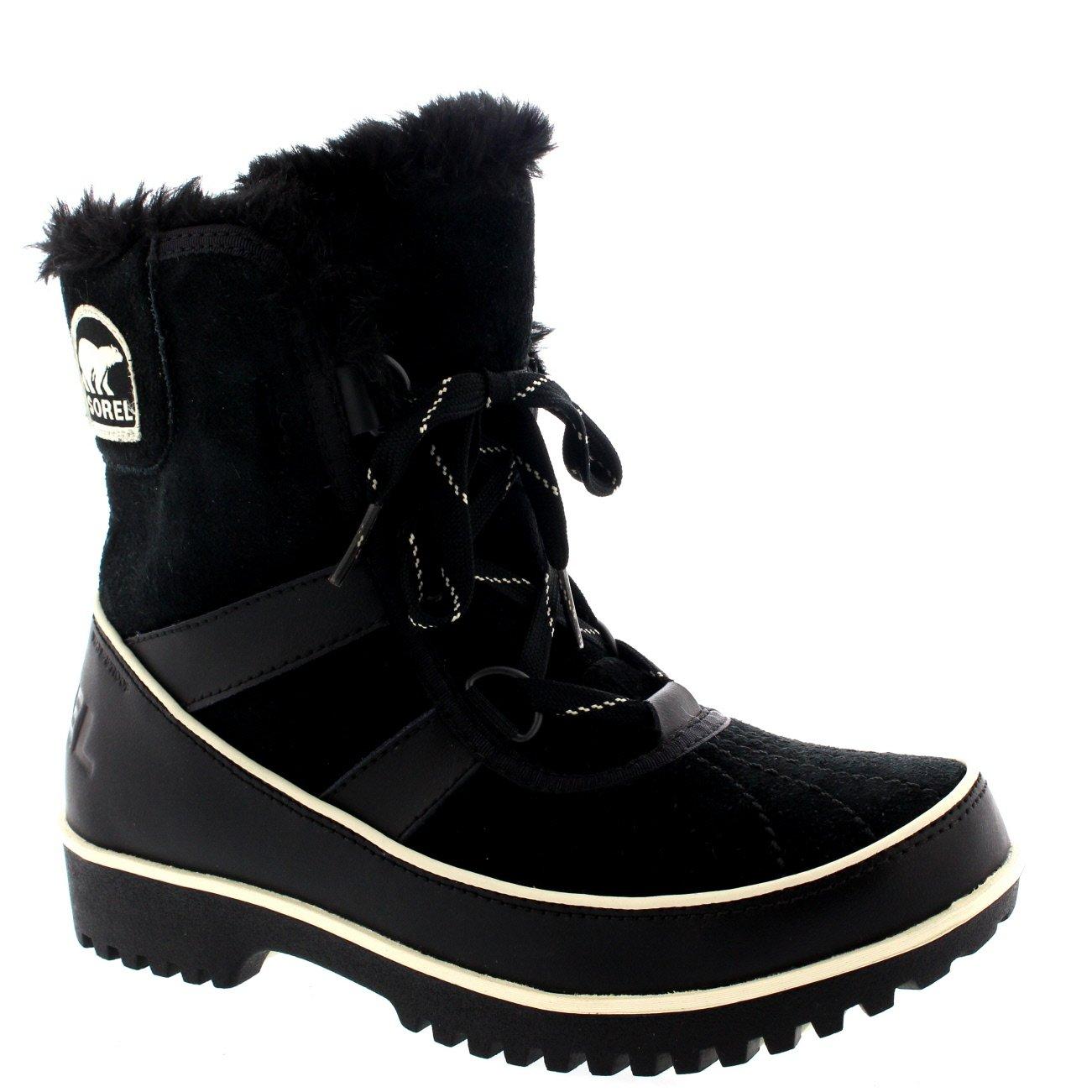 Womens Sorel Tivolli Ii Winter Waterproof Fur Boots Snow Lace Up Rain - Black - 7 by SOREL