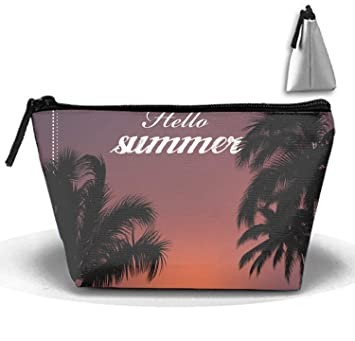 413772f5ed90 Amazon.com : Hello Summer Toiletry Bag Makeup Bag Carry on Cosmetic ...