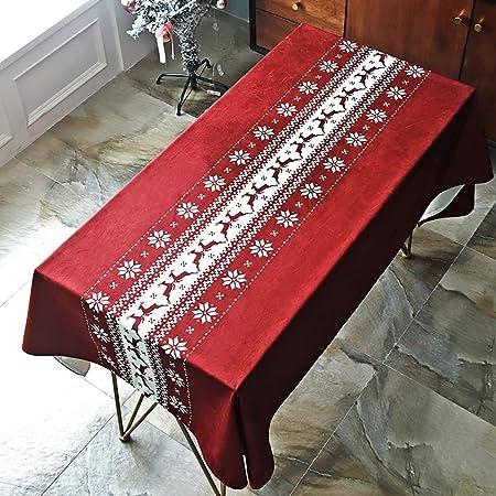 AMENZ Navidad Rectangular Mantel de Mesa Antimanchas Impermeable ...