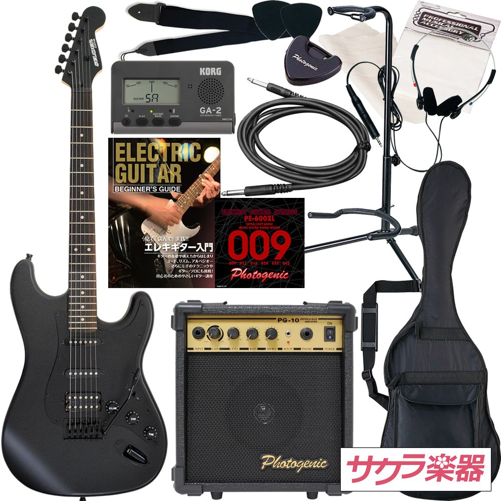SELDER セルダー エレキギター ストラトキャスタータイプ サクラ楽器オリジナル STC-04/BB 初心者入門13点セット   B0055B0W84
