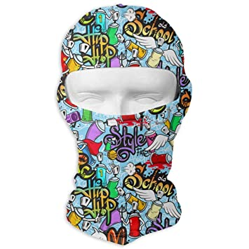 1736ae69d2818 Amazon.com: Tesdfk Graffiti Youth Street Art Men Women Balaclava ...