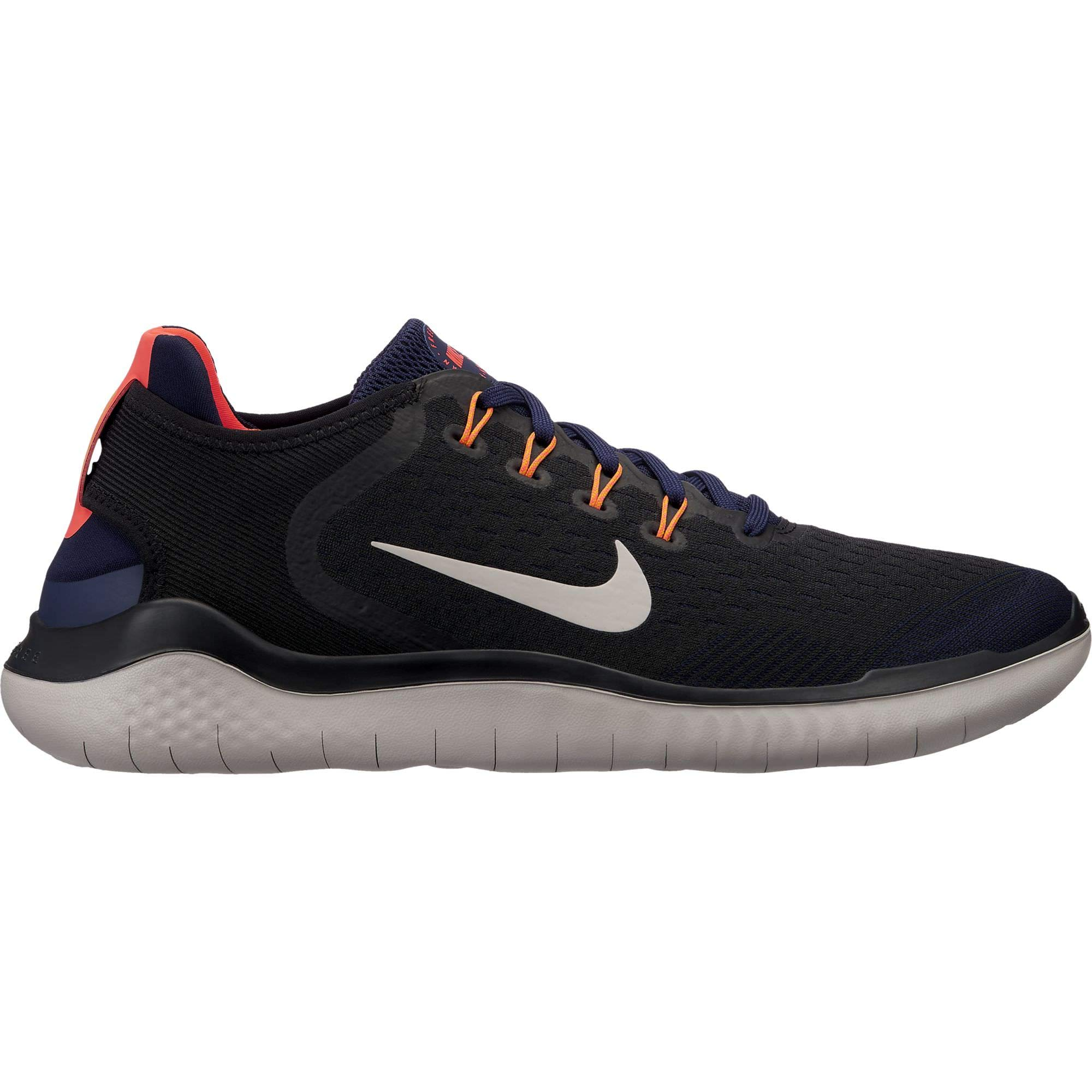 88d707fca02a3 Nike Men's Free RN 2018 Black/Moon Particle/Blackened Blue Size 11.5 M US