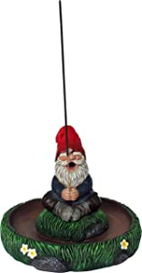 World of Wonders - Gnaughty Gnomes Series - Ol' Smokey - Collectible Garden Gnome, Incense Sticks and Cone Burner, Aromatherapy, Home Decor, and Kitchen Decor, 7.5-inch…