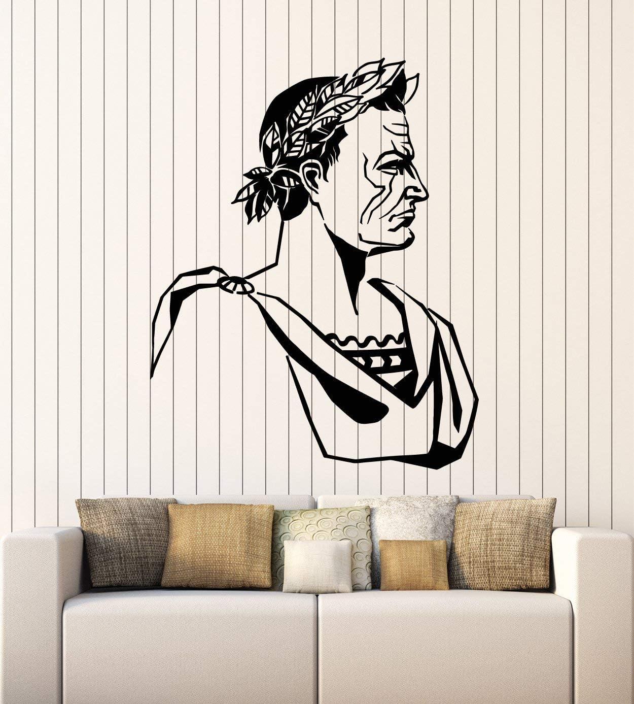 Vinyl Wall Decal Julius Caesar Ancient Rome Roman Empire Stickers Mural Large Decor (g2407) Black
