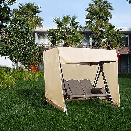 thelastplanet Jardín Columpio Balancín Reemplazo De Toldos Columpios De Porche Quitasol Cobertor Swing Canopy Reemplazo De Toldos Guardapolvo Impermeable Jardin Al Aire Libre 220X125X170cm: Amazon.es: Hogar