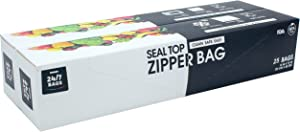 24/7 Bags - Double Zipper Storage Bags, 2 Gallon, 50 Count (2 Packs of 25)