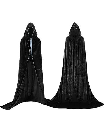 Labellevie Mantello con Cappuccio Lungo in Velluto Costume di Halloween  Capo Masquerade d596a4bfa48