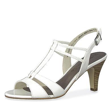 6f0f7b096f1d Tamaris 28304-20 Damen Elegante Sandalette aus Lacklederimitat mit  65-mm-Absatz,