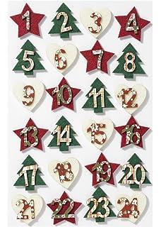 Adventskalender Zahlen Auf Holz Klammer Zahlen 1 24 Mit Clip