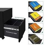 DEVAISE 3 Drawer Mobile File Cabinet, Lockable