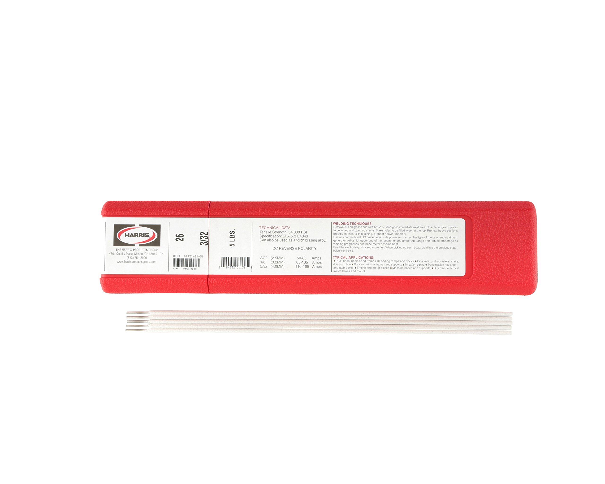 Harris 0002650 Aluminum Electrode, 5 lb., 26-3/32''