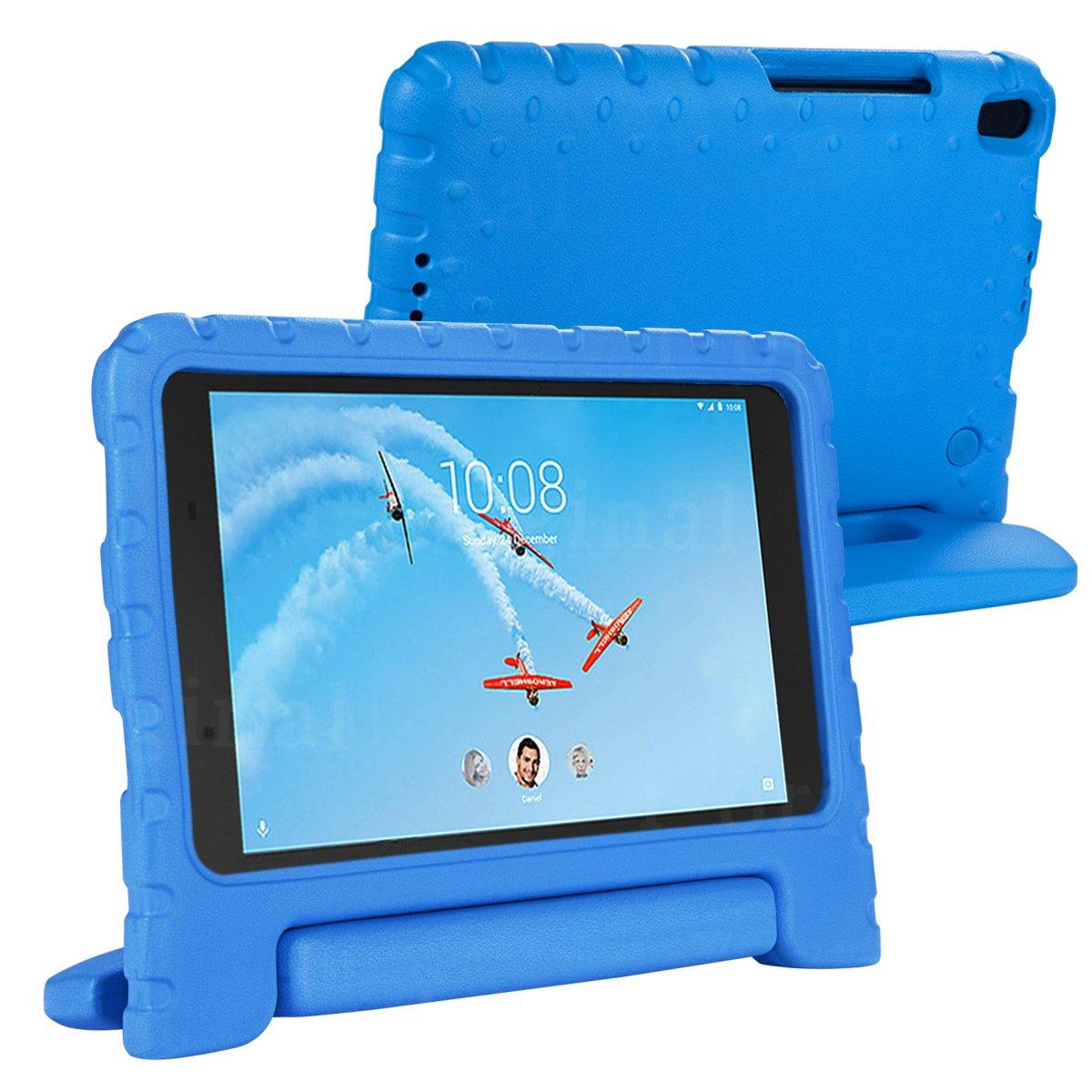 i-Original Compatible Shock Proof Lenovo Tab 4 8 Plus EVA Case for Kids Bumper Cover Handle Stand EVA Convertible Handle Light Weight EVA Protective Blue Stand Bumper Cover Tab4-LN8plus-bl