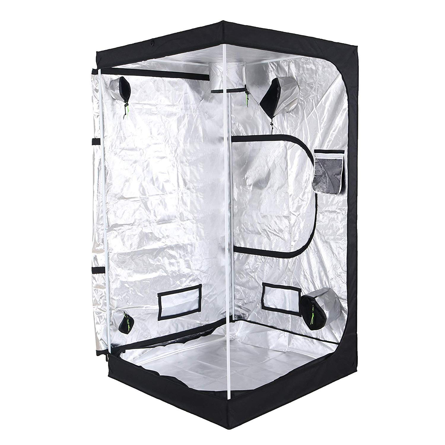 AIKI 40''x40''x80'' Reflective Mylar Hydroponic Grow Tent with Observation Window and Waterproof Floor Tray for Indoor Plant Growing 3x3 by AIKI (Image #3)