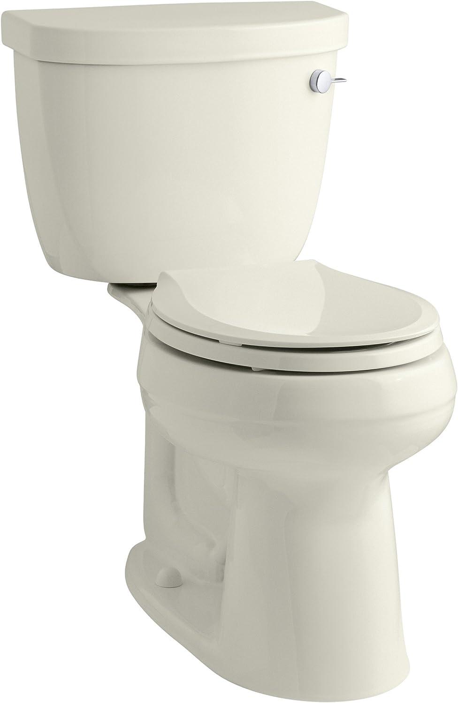 KOHLER K-3851-RA-96 Cimarron Comfort Height Two-Piece Round-Front 1.28 Gpf Toilet with Aquapiston Flush Technology, 10