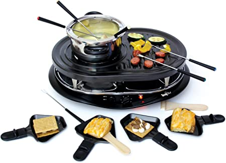 All-Clad Stainless Fondue Pot with forks