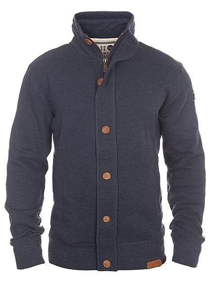 !Solid Tripjacket Herren Zip Cardigan Jacke Ohne Kapuze Mit Knopfleiste Reißverschluss Stehkragen Und Fleece Innenseite