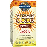Garden of Life Vitamin D3 - Vitamin Code Raw Whole Food D3 Supplement, 2000 IU, Vegetarian, Dairy and Gluten Free, 120 Capsules (Color May Vary - Now with Organic Green Cracked Wall Chlorella)