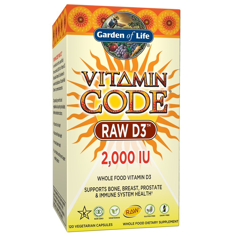 Garden of Life Raw D3 Supplement, 2000 IU, 120 Count by Garden of Life