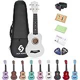 Soprano Ukulele Beginner Pack, 21 Inch Basswood kids Ukuleles Starter Kit with Gig Bag Digital Tuner Spare Strings and…