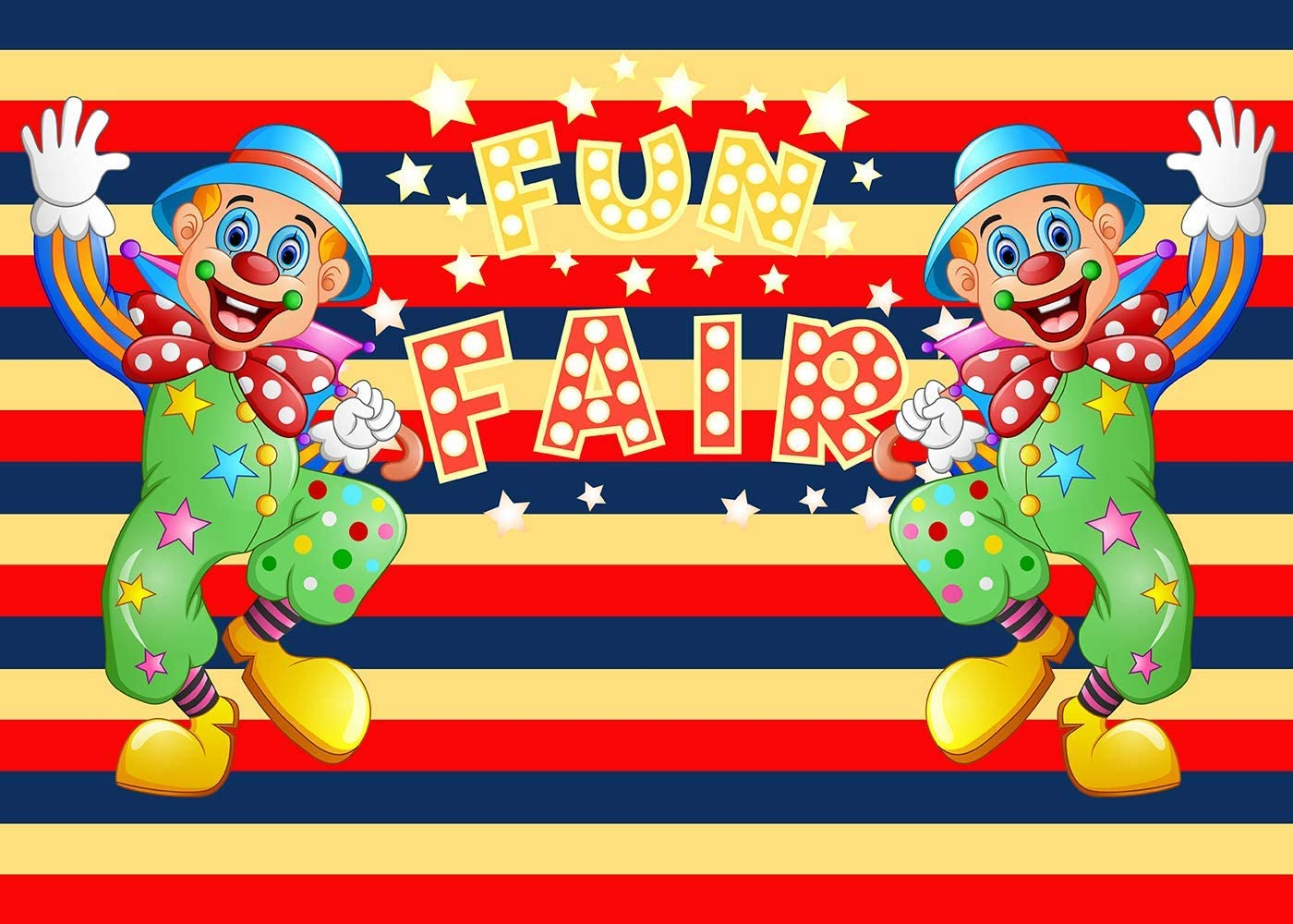 10x8ft Clown Backdrop Children Birthday Photography Props Photo Background Banner Decor LYFU261