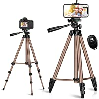 Phone Tripod, Tobeape 50'' Extendable Lightweight Aluminum Phone Tripod Stand with Cell Phone Mount Holder & Wireless…