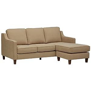 Stone & Beam Blaine Modern Sectional Sofa - 79.5 Inch, Beige