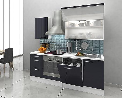 respekta Premium Instalación de Cocina Cocina 220 cm Color Blanco ...