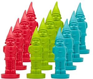 "8"" Gnomes - Set of 12 Paint and Create/Paint Your Own Ceramic Gnome, Arts and Craft Project, Party Giveaway, Decorate Your Home Or Garden -DIY Garden Gnome Statues - Red, Green, Blue - 12 Pack"