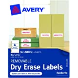 Avery Removable Avery Dry Erase Labels, 1.25 x 3.5-Inches, Pack of 16 (40164)