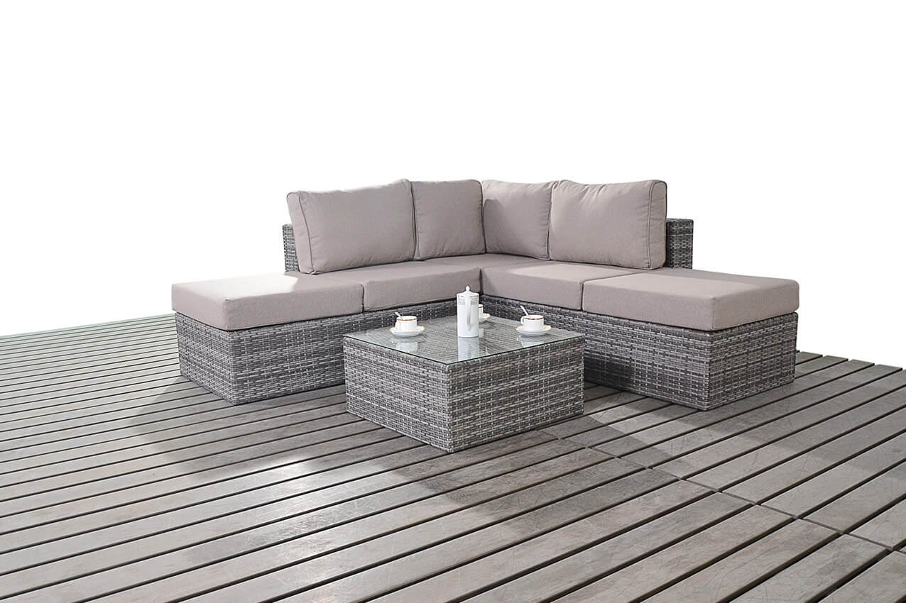 Port Royal Prestige Small Right Hand Facing Corner Sofa Set, Black:  Amazon.co.uk: Garden U0026 Outdoors