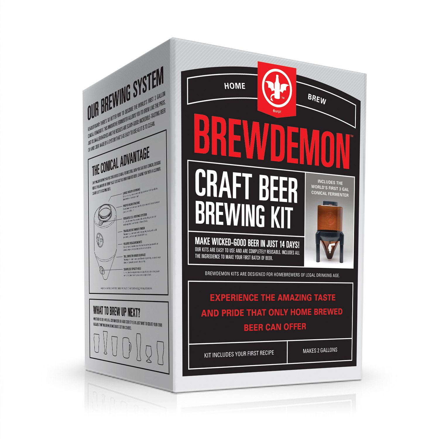 BrewDemon Craft Beer Kit Extra by Demon Brewing Company - NO SIPHON HOSE OR AIRLOCK REQUIRED Easy To Use Craft Beer Starter Kit With Reusable Conical Fermenter, Equipment and Ingredients - Make Wicked by BrewDemon (Image #7)