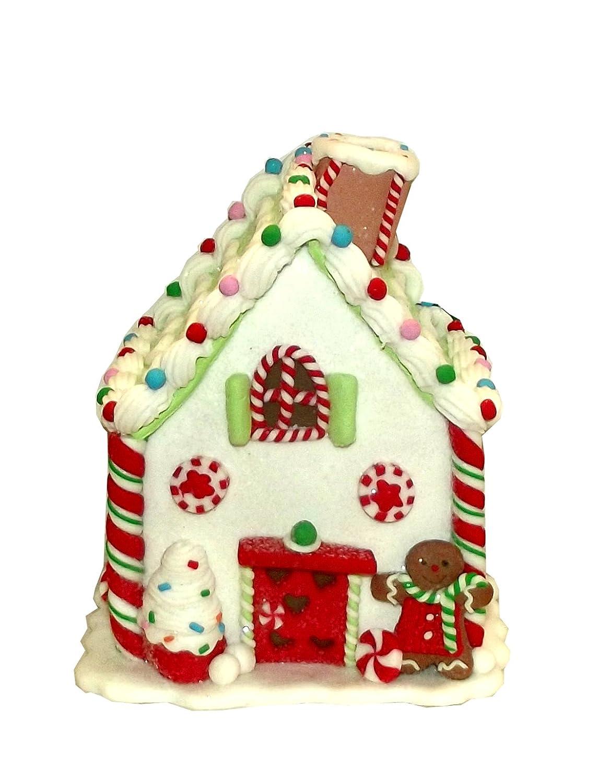 Kurt Adler LED Light Up Gingerbread House Winter Holiday Decor、6 x 5 x 5 cm ホワイト B077BNTBPD 14550 ホワイト ホワイト