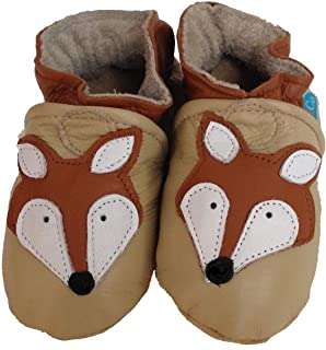 product image for SLY FOX (sand) Handmade in USA, All-Natural Leather Baby Shoes.