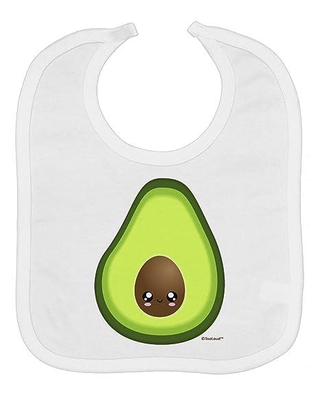 f21a97e0 Amazon.com: TooLoud Cute Avocado Design Baby Bib - White: Clothing