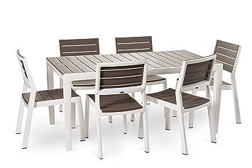 Keter - Set de Mesa y sillas Harmony (Mesa + 4 sillas + 2 ...