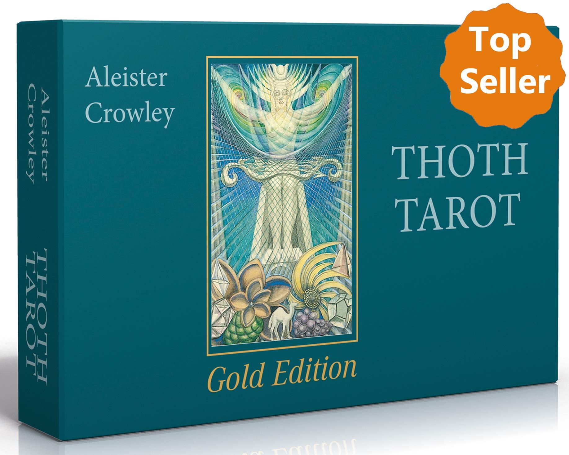 Aleister Crowley Thoth Tarot   Gold Edition  Deluxe Tarotkarten