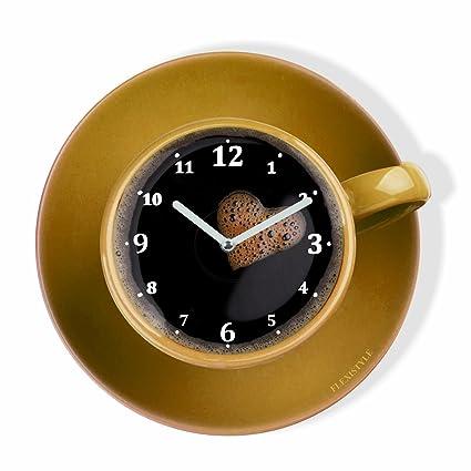 Orologio da parete da cucina LA TAZZINA, tazza gialla per il caffè ...