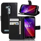 Guran® Funda de Cuero Para Asus ZenFone Go ZB452KG Smartphone Tirón de la Cubierta de la Función de Ranura Tarjetas y Efectivo Caso