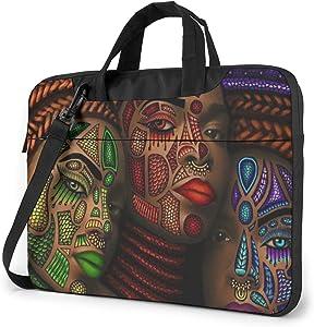 Laptop Shoulder Bag - Three African American Women Art Printed Shockproof Waterproof Laptop Shoulder Backpack Bag Briefcase 13 Inch