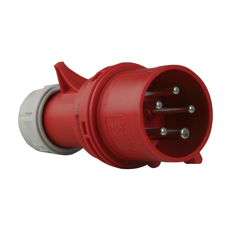 Import Allemagne PCE 40829L Prise CEE avec changement de phase 16 A Rouge