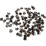 SODIAL(R) 100X Apliques Remaches 6mm Bronce Cuadrado Tachuelas Bolsa/Calzado/Guante