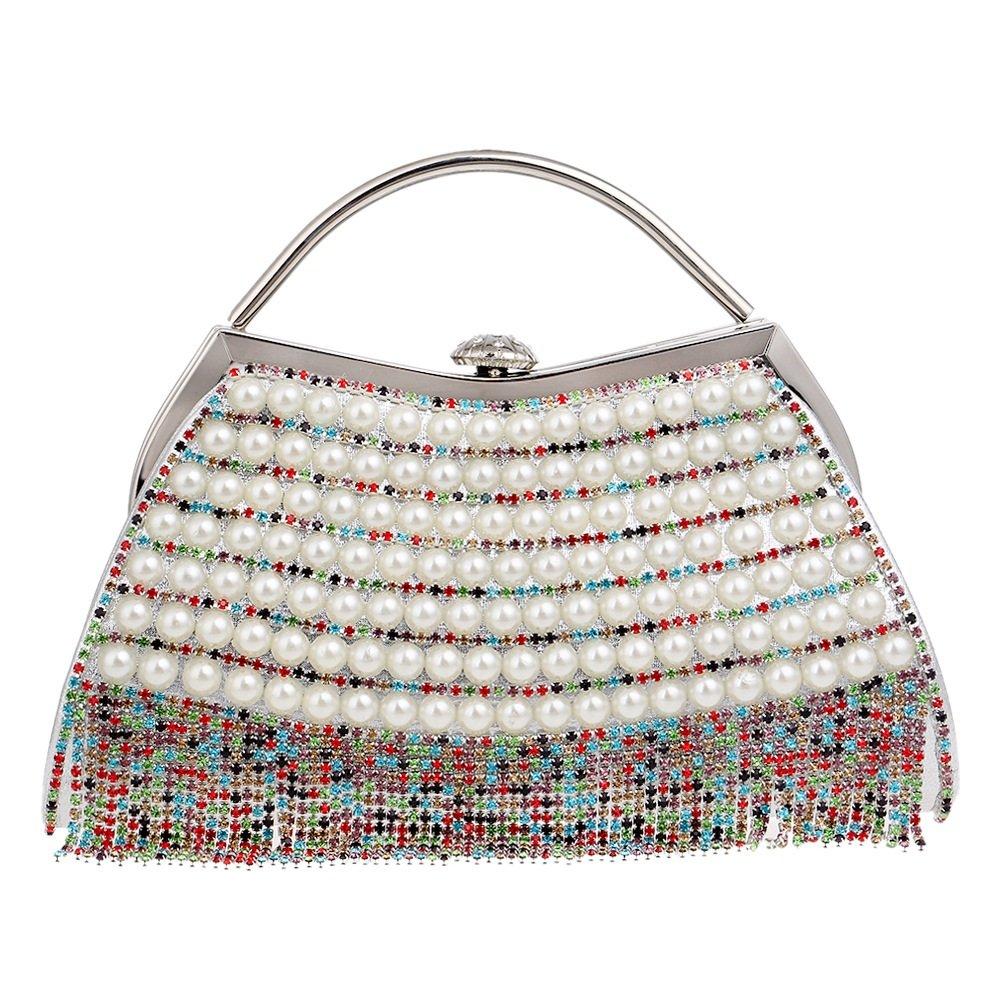 008e90a239bd5 DASEXY Stilvolle Einfachheit Partei Abend Handtaschen Frauen Frauen Frauen  Sparkly Strass Kristall Perle Handtasche Mit Quaste Hochzeit Prom Taschen  ...