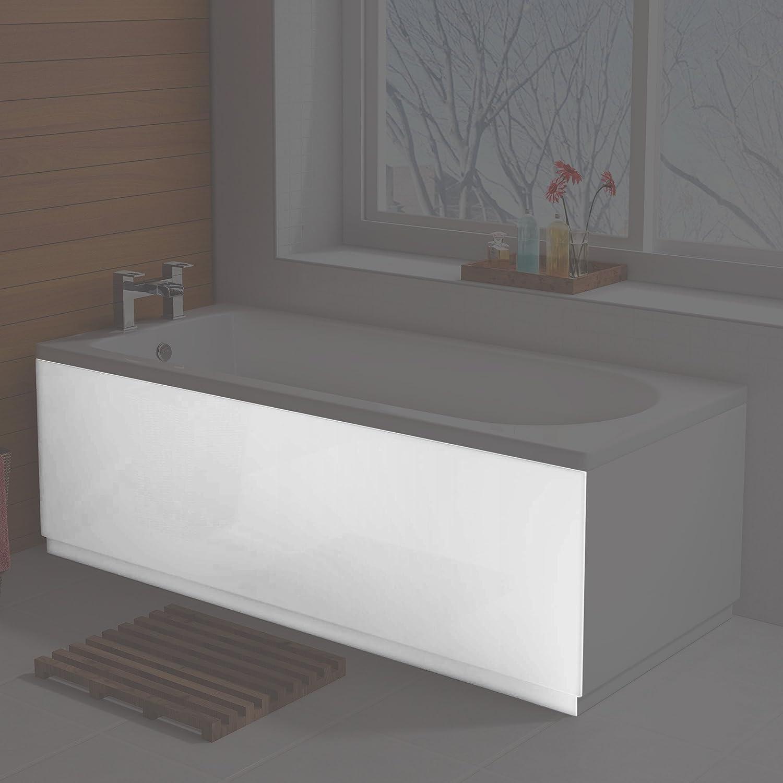 1700mm Modern White Gloss Straight Side Bath Panel: iBathUK ...