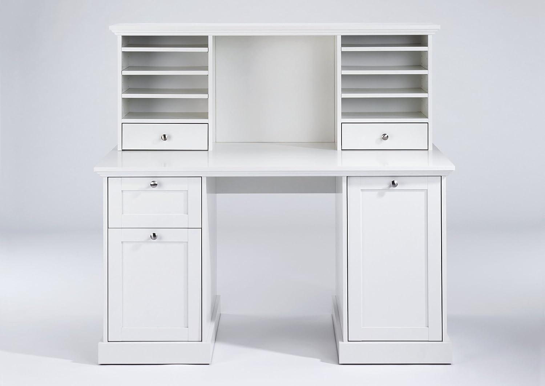 Cavadore Schreibtisch Aufsatz Weiß Greenford