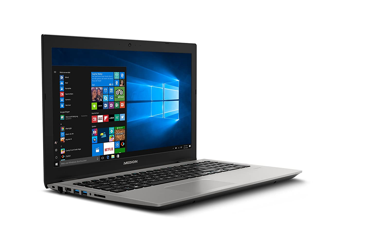 MEDION P6687 - Ordenador portatil 15.6 FullHD (Intel Core i5, 8GB RAM, 256GB SSD, MX150 2GB, Windows 10) gris: Medion: Amazon.es: Electrónica