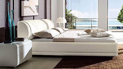 Amazon.com: Marruecos Color Blanco piel Plataforma cama con ...